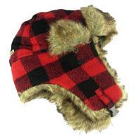WN543 – Plaid Bomber Hat W/Fur Lining