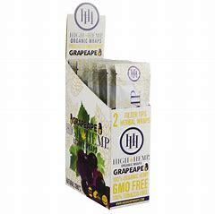 HH27 – (Grapeape) High Hemp Wraps (2 per pk., 25ct Display)