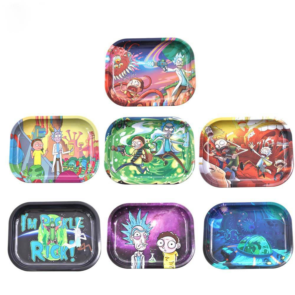 R23 – Rick & Morty Small Rolling Tray (7″ x 5″)