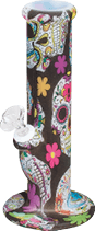 SSP19C – 10″ Sugar Skull Silicone Water Pipe