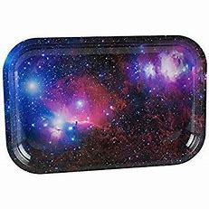 RT76 – Space Small Metal Rolling Tray 5″x7″