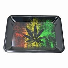 RT60 – Leaf Small Metal Rolling Tray 5″x7″