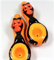 2322 – 4.75″ Monkey Ceramic Hand Pipe