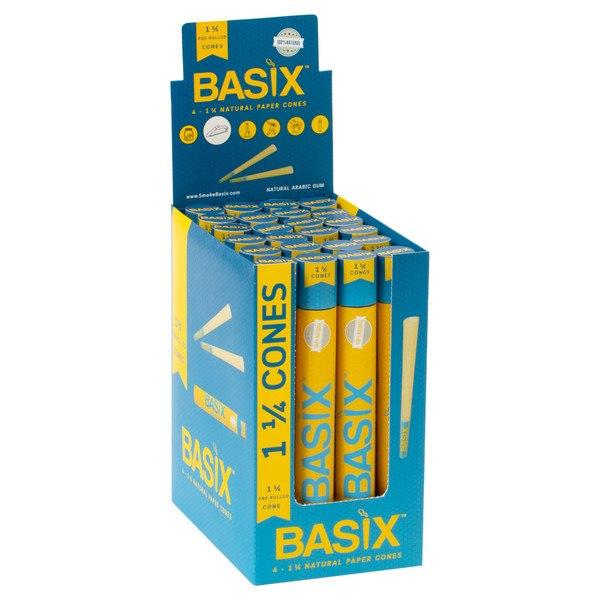 BRC2 – Basix Natural 1.25″ Pre-Roll Cone (4pk, 24ct)