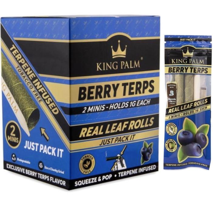 KPBT – (Berry Terps) King Palm Mini Size (2per Pk, 20ct)