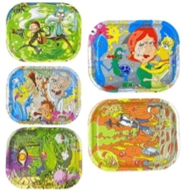 RT24 – Small Mixed Characters Metal Rolling Tray (5×7)