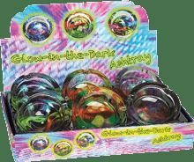 GA23 – Mushroom/Color Splash Glow In The Dark Glass Ashtray (6ct)