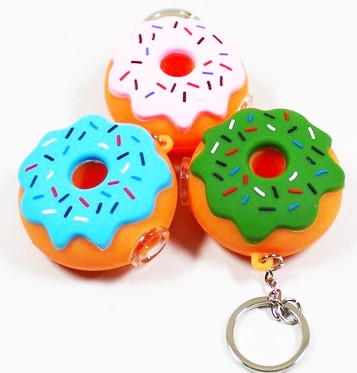 2461 – Donut Silicone Key Chain Pipe