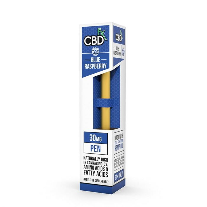 CB26 – (Blue Raspberry) 30mg CBD Disposable Vape Pen