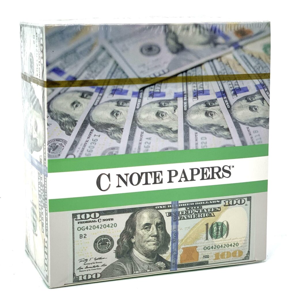CN16 – C-Note Rolling Paper, King Size (24ct)
