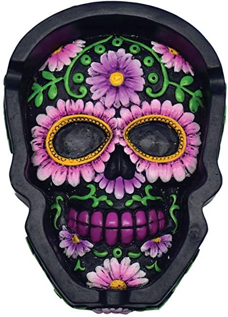 LT164 – Floral Skull Shape Ashtray