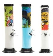 AWP5 – 12″ Acrylic Water Pipe W/Character Sticker